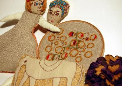 Shino Suzuki embroidery dolls
