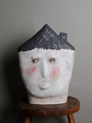 {Origin 2009} Claire Loder ceramics faces