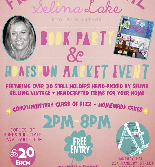 Homespun Style Book Launch Party & Market