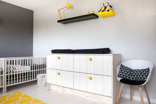 Scandinavian style twin nursery