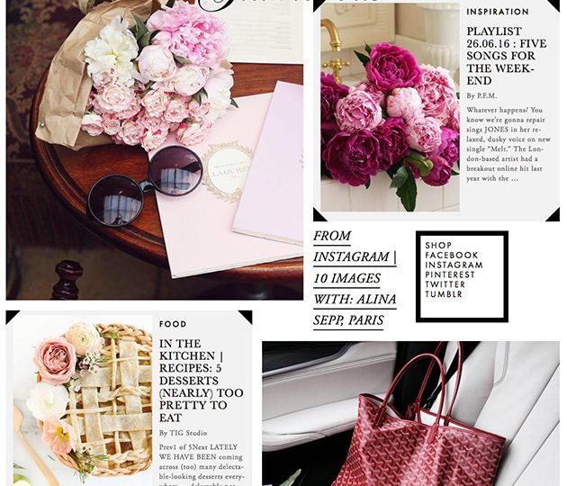 Feminine black and pink