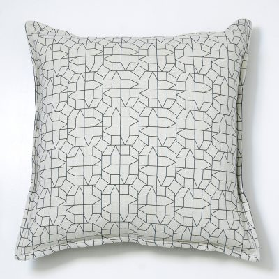 black geometric cushion