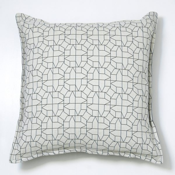 black geometric cushion