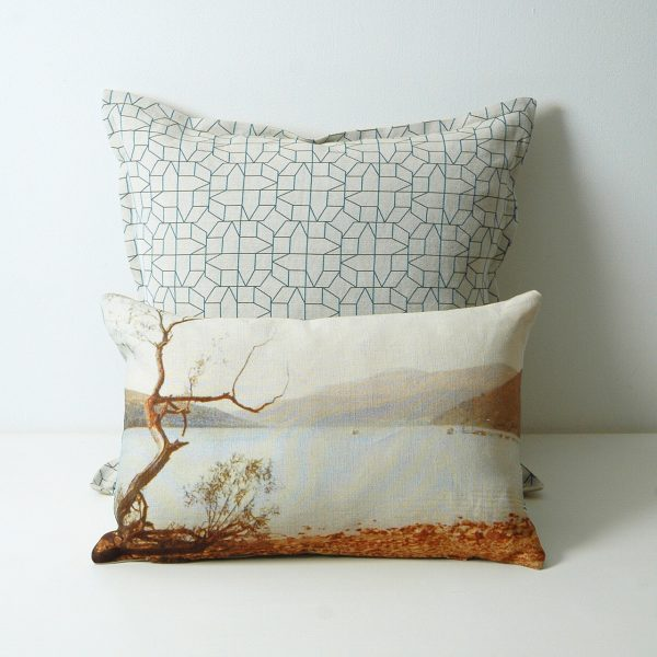 blue lake cushion