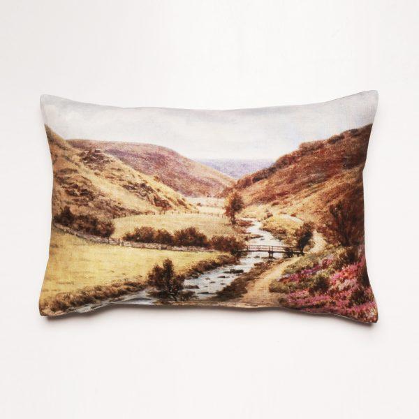 cushion, scenery cushion, valley cushion
