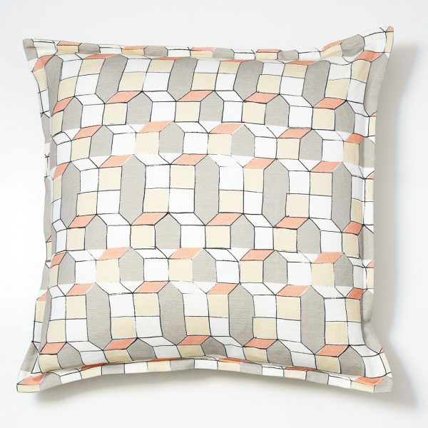 geometric cushion,