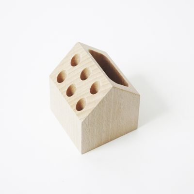 pencil holder, wooden pencil holder, office storage