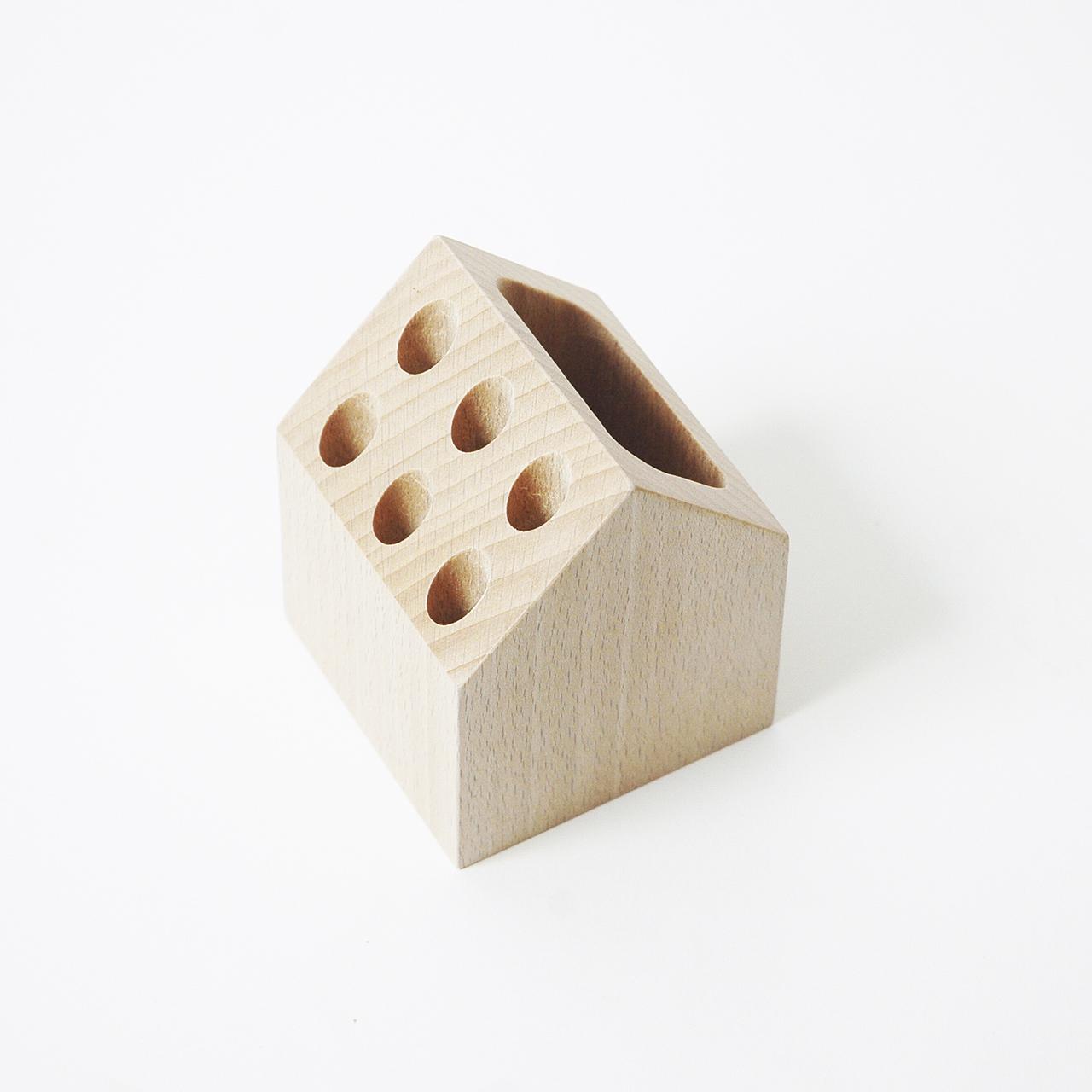 pencil holder, wooden pencil holder, office storage