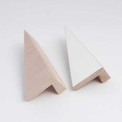 wooden geometric handles