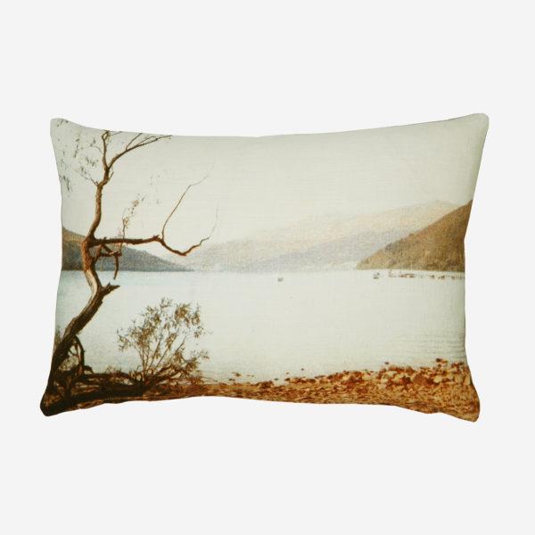 Blue lake cushion