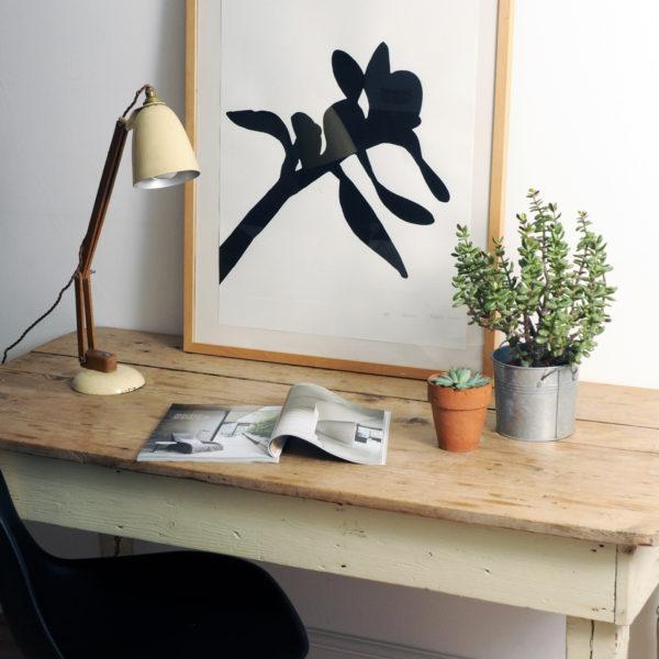 botanical art print, black and white art