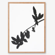 leaft art print, black and white art
