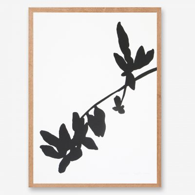 leaft art print, black and white art