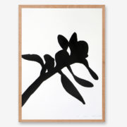 botanical art print, black and white art