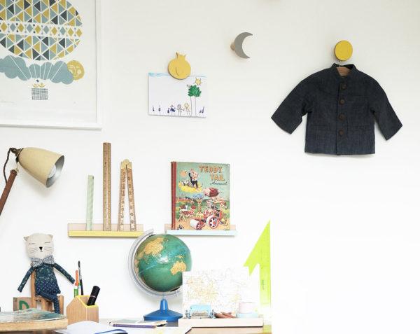 children room decor, wall shelves