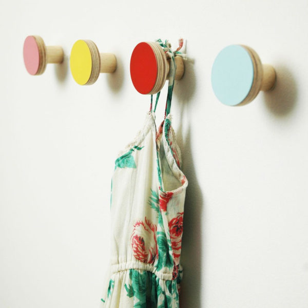 colorful hooks