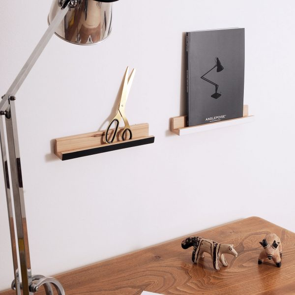 floating shelves-anglepoise-lamp