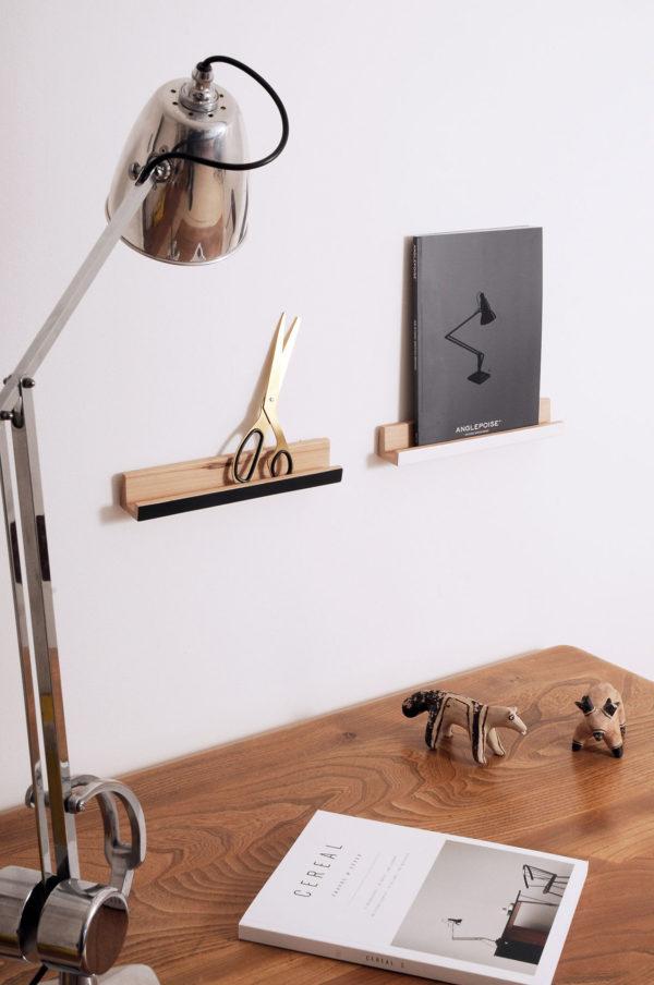 floating shelves-anglepoise-lamp