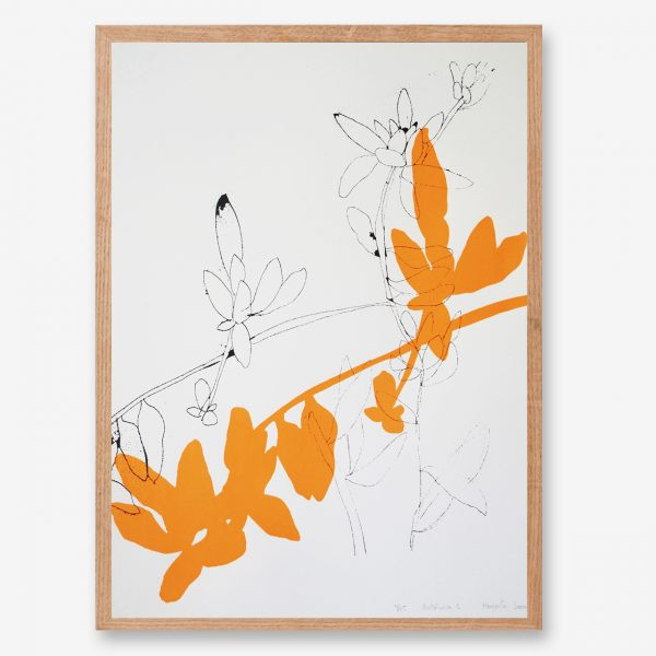 neon artwork, leaf art print