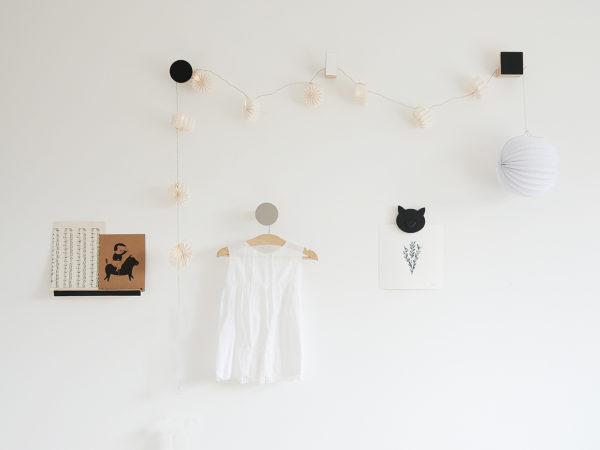 nursery wall decor, monochrome decor