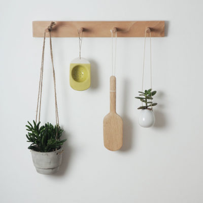 Peg rail, kitchen storage