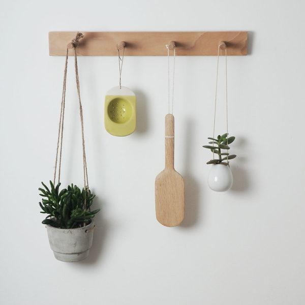 Peg rail, kitchen storage