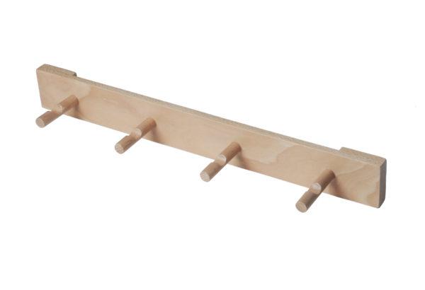 wooden peg rail