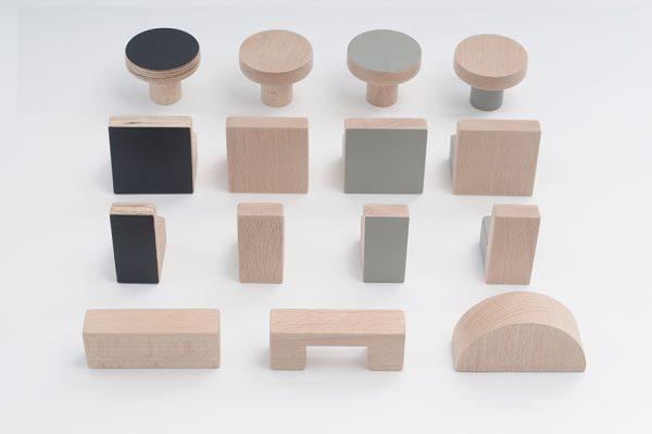 wooden knobs, kitchen handles