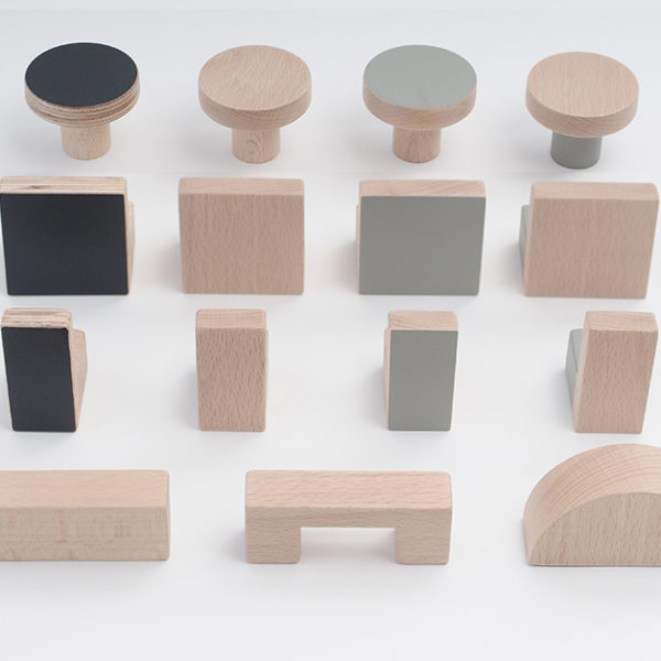 wooden knobs, kitchen handles