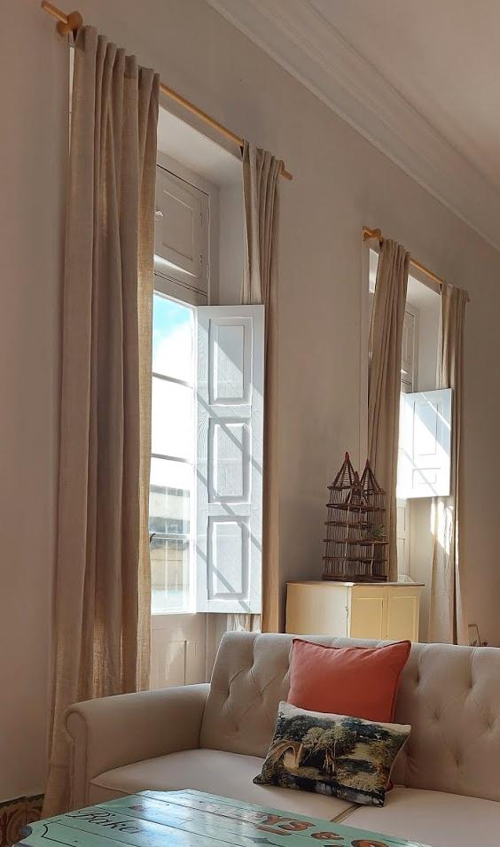 linen curtain livingroom